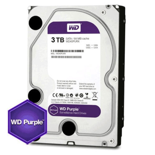 3TB WD PURPLE HARDDRIVE (HDD for CCTV NVRs/Recorders)