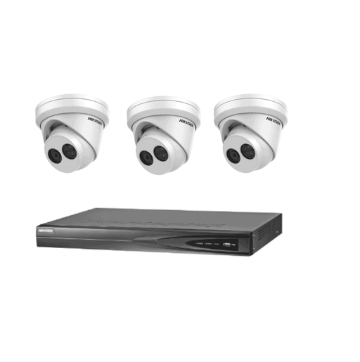 4Ch Hikvision NVR 3 6MP Outdoor Dome Kit