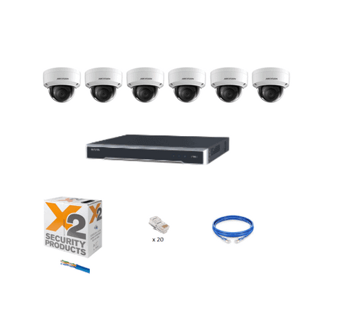 8ch Hikvision Security Cameras CCTV Kit with 6 anti vandal cameras - Rock Security