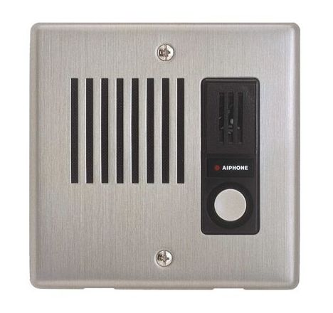 Aiphone IE Series Door Station, Stainless Steel Faceplate, Flush Mount