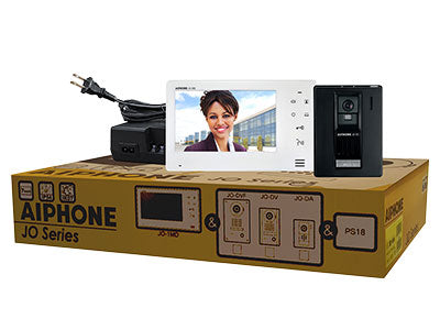 "Aiphone JO 7"" Screen with Touch Button Video Intercom Kit, Plastic Door Station"