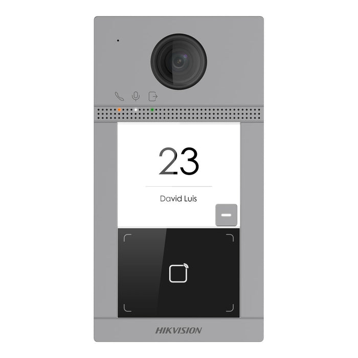 Hikvision 2nd Gen IP 2MP Villa Door Station, 1 Button, Wi-Fi, Mifare, Aluminium, Flush