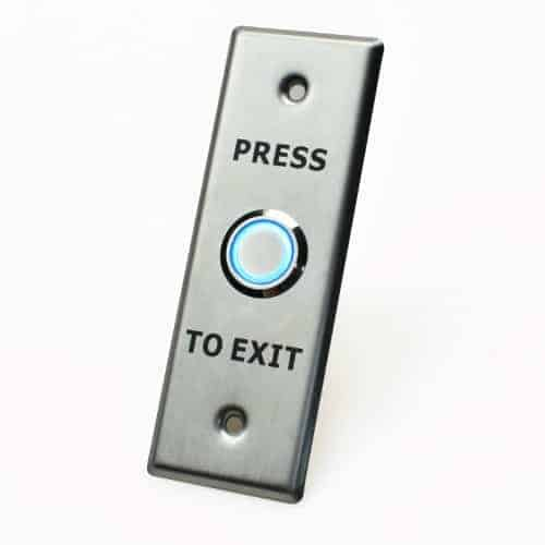 X2 Illuminated Exit Button, Stainless Steel - Small, SPDT, 12VDC