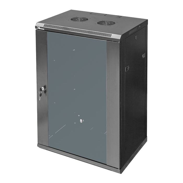 X2 Racks, 18RU Single Section Wall Mounted Cabinet, 600 (W) x 450 (D) x 900 (H)