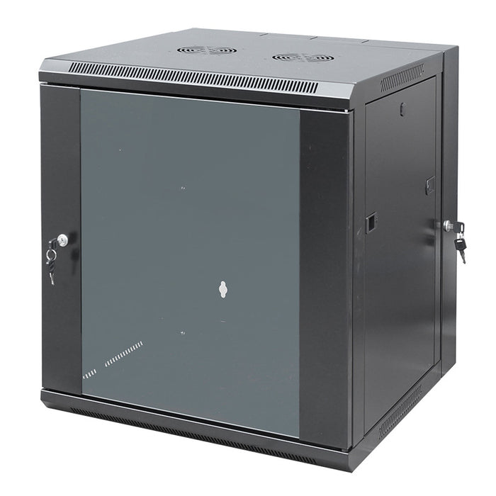 X2 Racks, 12RU Double Section Wall Mounted Cabinet, 600 (W) x 600 (D) x 635 (H)