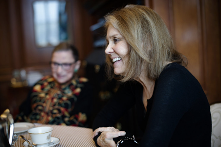 Ruth Bader Ginsburg and Gloria Steinem
