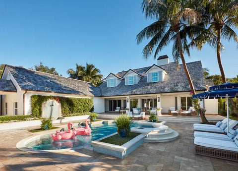 Outdoor Living At Florida Pool Home
