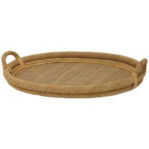 Oval Natural Rope Top Tray