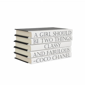 Coco Chanel - Quote Book Set - A Girl