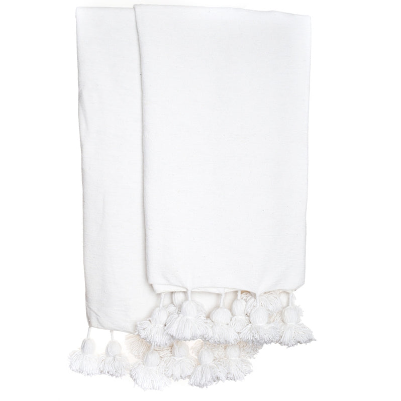 White Tassel Throw