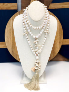 Long Pearl Necklace with Tassel - Perle by Lola