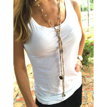 Load image into Gallery viewer, Monogram Suede Lariat - Natural