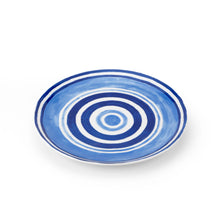 Load image into Gallery viewer, Blue Maze Porcelain Dessert Plate