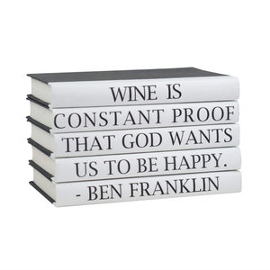 Benjamin Franklin-Quote Book Set-Wine Is Constant Proof