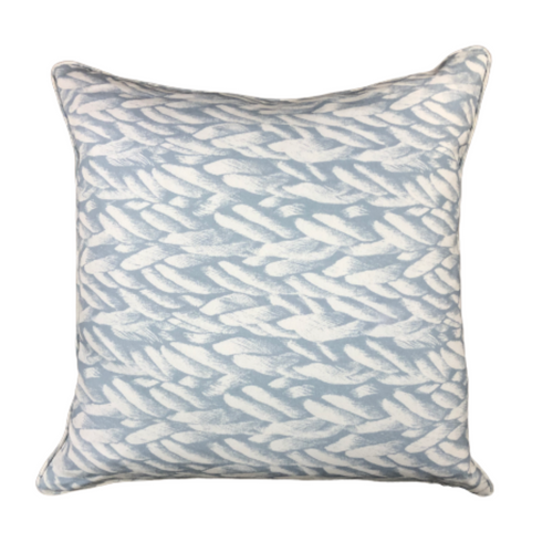 Icy Blue Rope Pillow