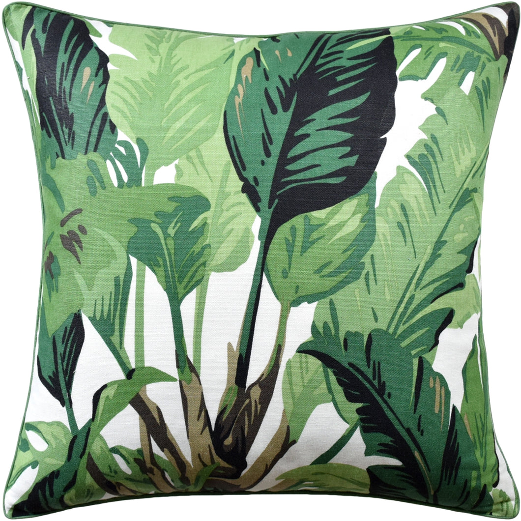 Travelers Palm Pillow-Green