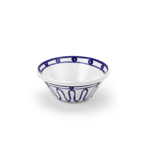 Blue Kyma Porcelain Bowl