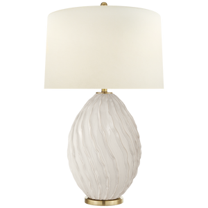 Ivory Dianthus Table Lamp