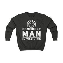 Load image into Gallery viewer, CONFIDENT MAN IN TRAINING Kids Boys Sweatshirt