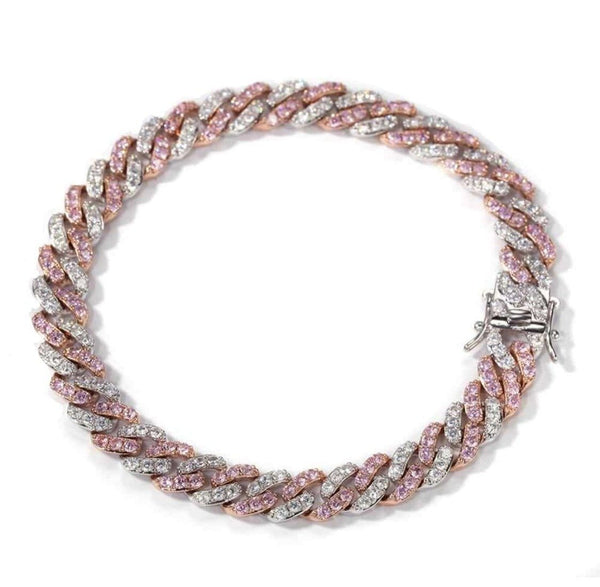 Pretty in Pink Cuban Bracelet