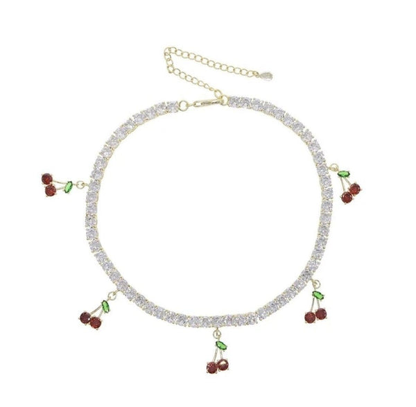 Cherry Dreams Tennis Choker