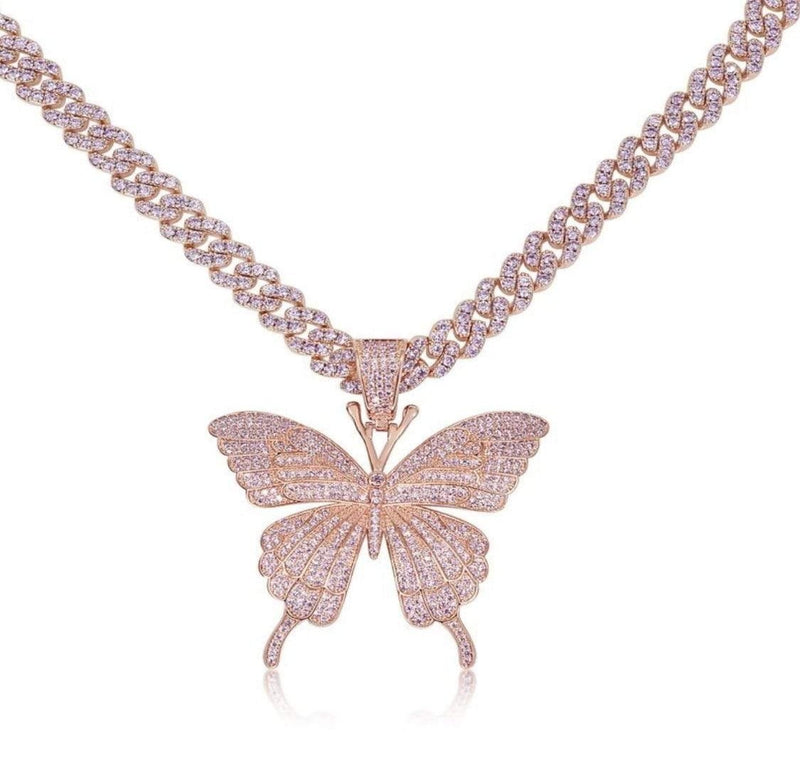 Pink Dreamy Butterfly Necklace