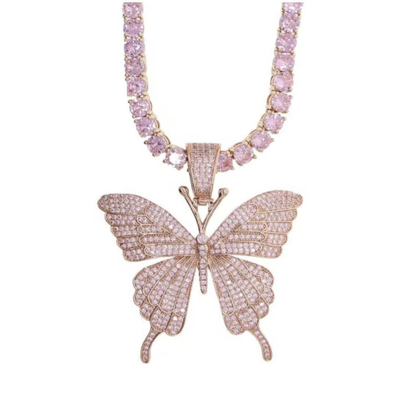 Butterfly Flutter Necklace Set