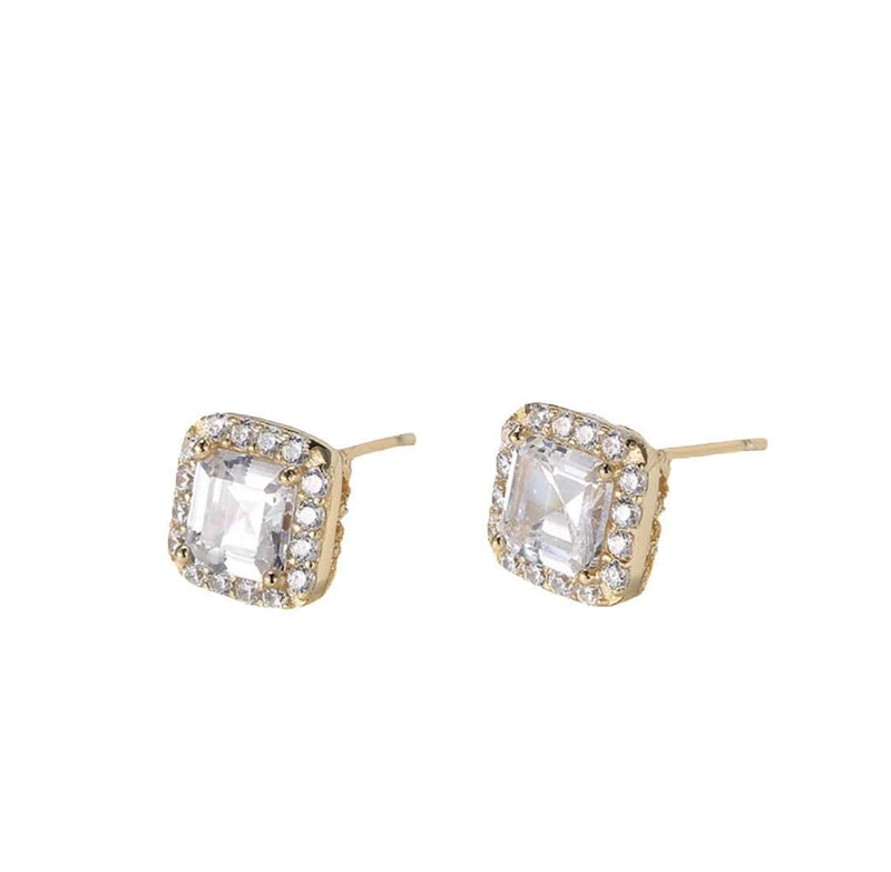 Glamour Square Earrings | 9MM