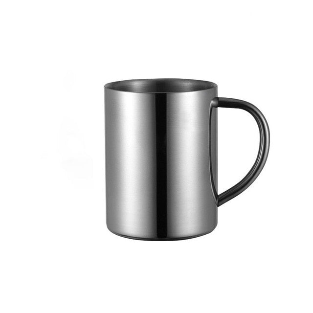 Gold Portable Stainless Steel Mug