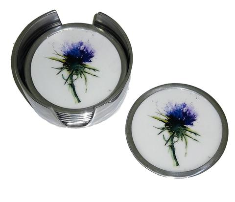 Set of 6 Coasters - Thistle