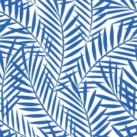 Indigo Palm Leaves Paper Napkins