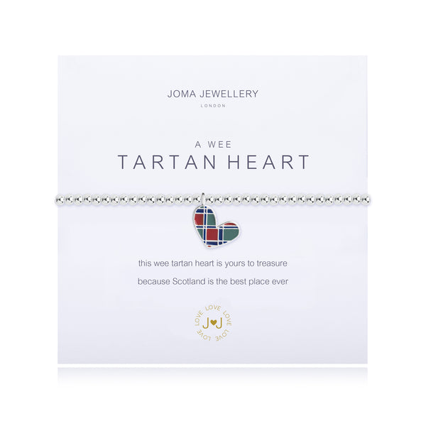 A Wee Tartan Heart Bracelet- 'This wee Tartan heart is yours to treasure...'