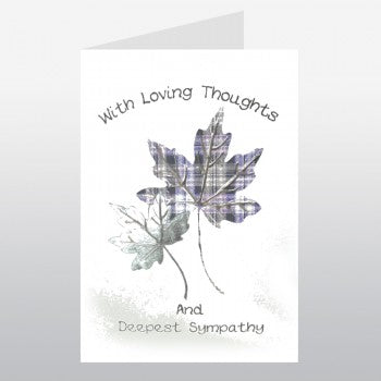 With Loving Thoughts Sympathy Card