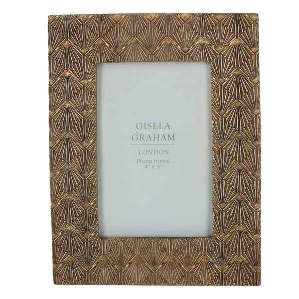 Gisela Graham - Gold Fan Effect Frame (4x6)