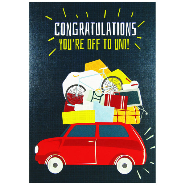 Congratulations, You're Off To Uni Card