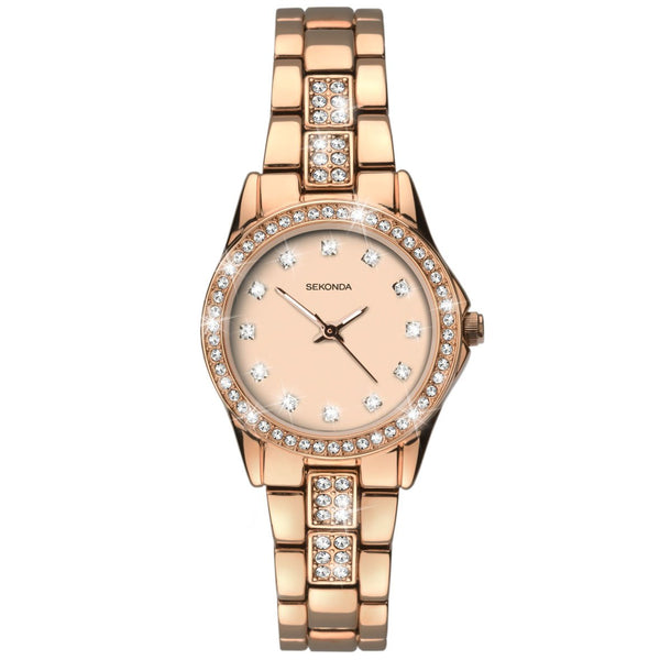 Women's Rose Gold Bracelet Watch