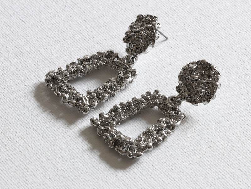 Cordelia Textured Metal Earrings