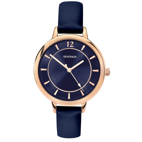 Women's Dark Blue Leather Watch