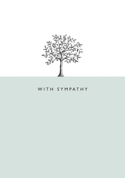 With Sympathy Tree Card