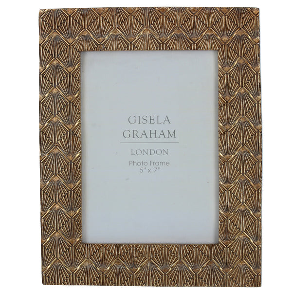 Gisela Graham - Gold Fan Effect Frame (5x7)
