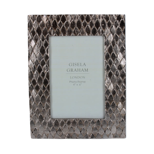 Gisela Graham - Silver Scales Effect Frame (4x6)