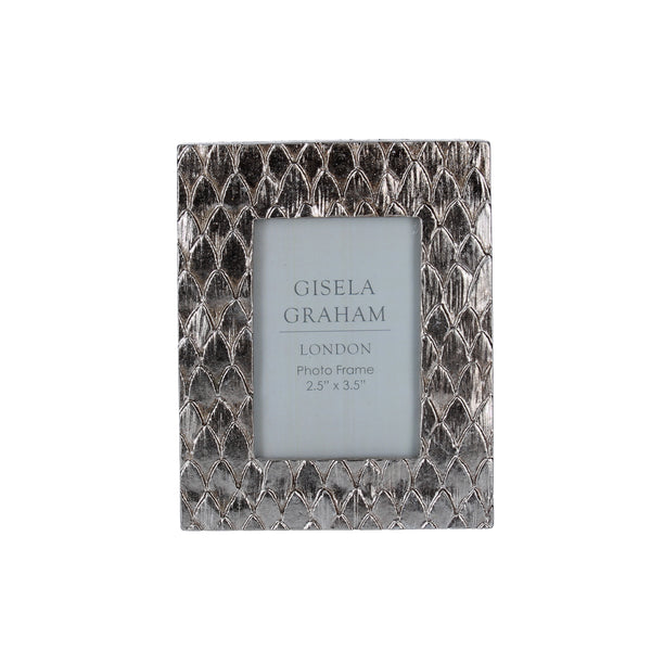 Gisela Graham - Silver Scales Effect Frame (2.5x3.5)