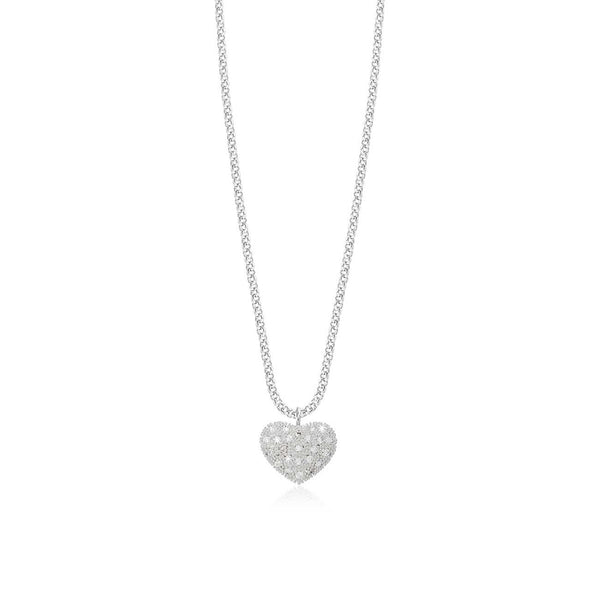 Bella Pave Heart Necklace
