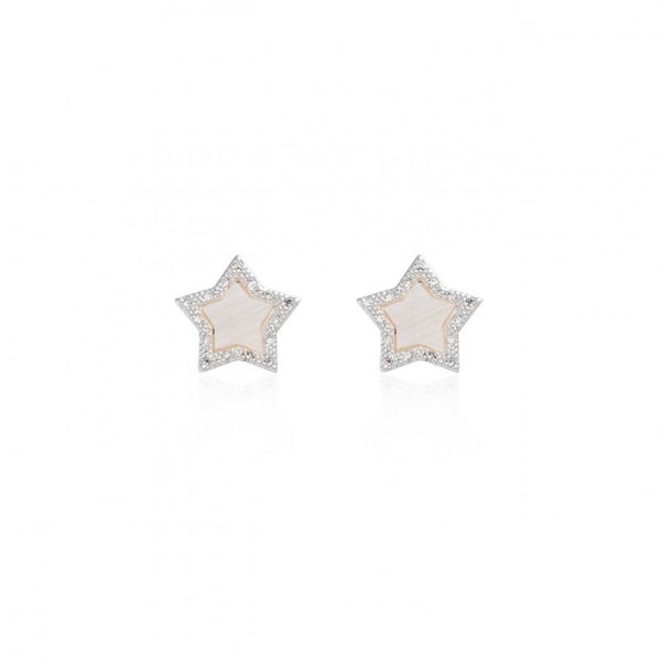 Pearlina Mother of Pearl Star Stud Earrings
