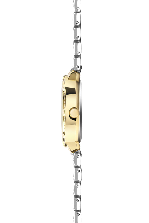 Women's Two Tone Stone Set Bracelet Watch