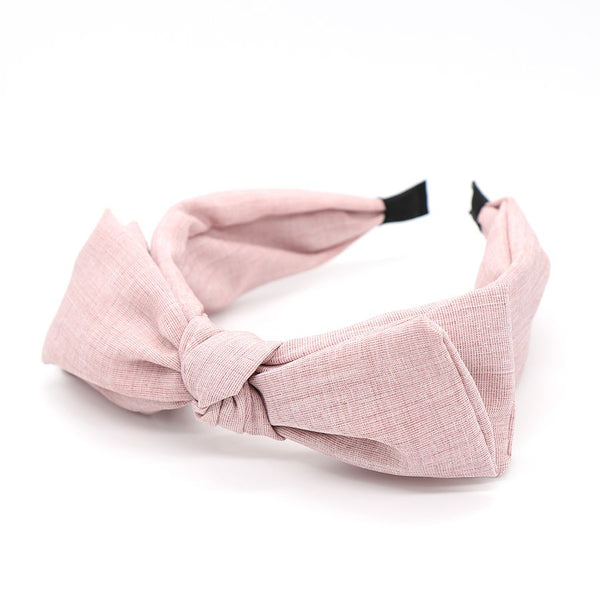 Blush pink large bow headband