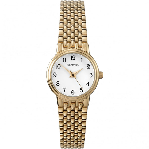 Women's White And Gold Watch