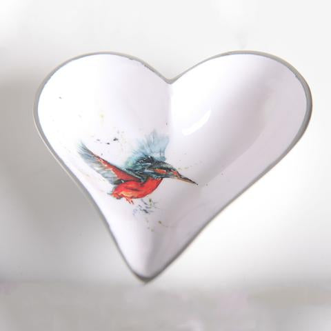 Small Heart Dish - Kingfisher
