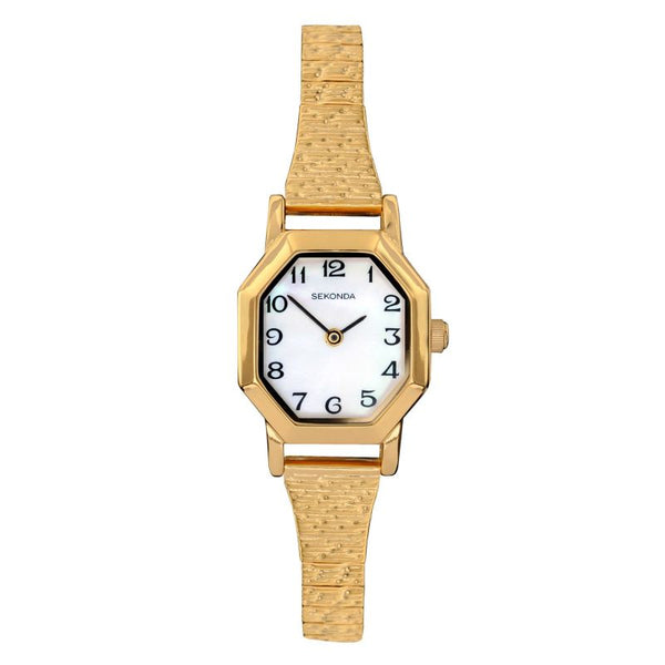Women's Gold Plated Octagon Watch
