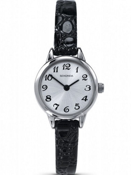 Women's Black Strap Watch
